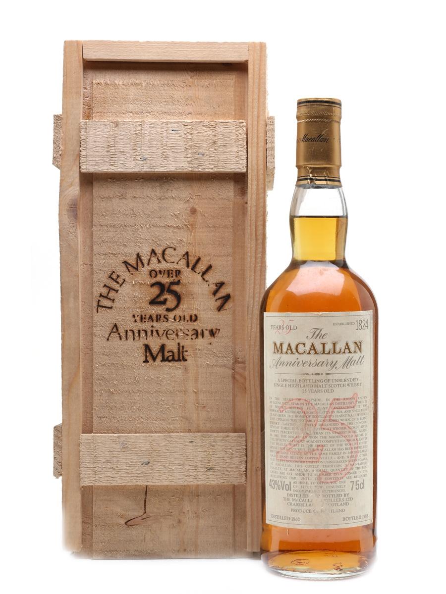 Macallan 1962 Anniversary Malt 25 Year Old 75cl / 43%