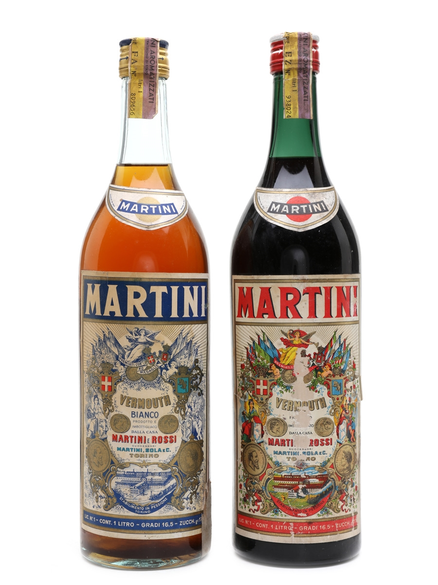 Martini Rosso & Bianco Vermouth - Lot 28566 - Whisky