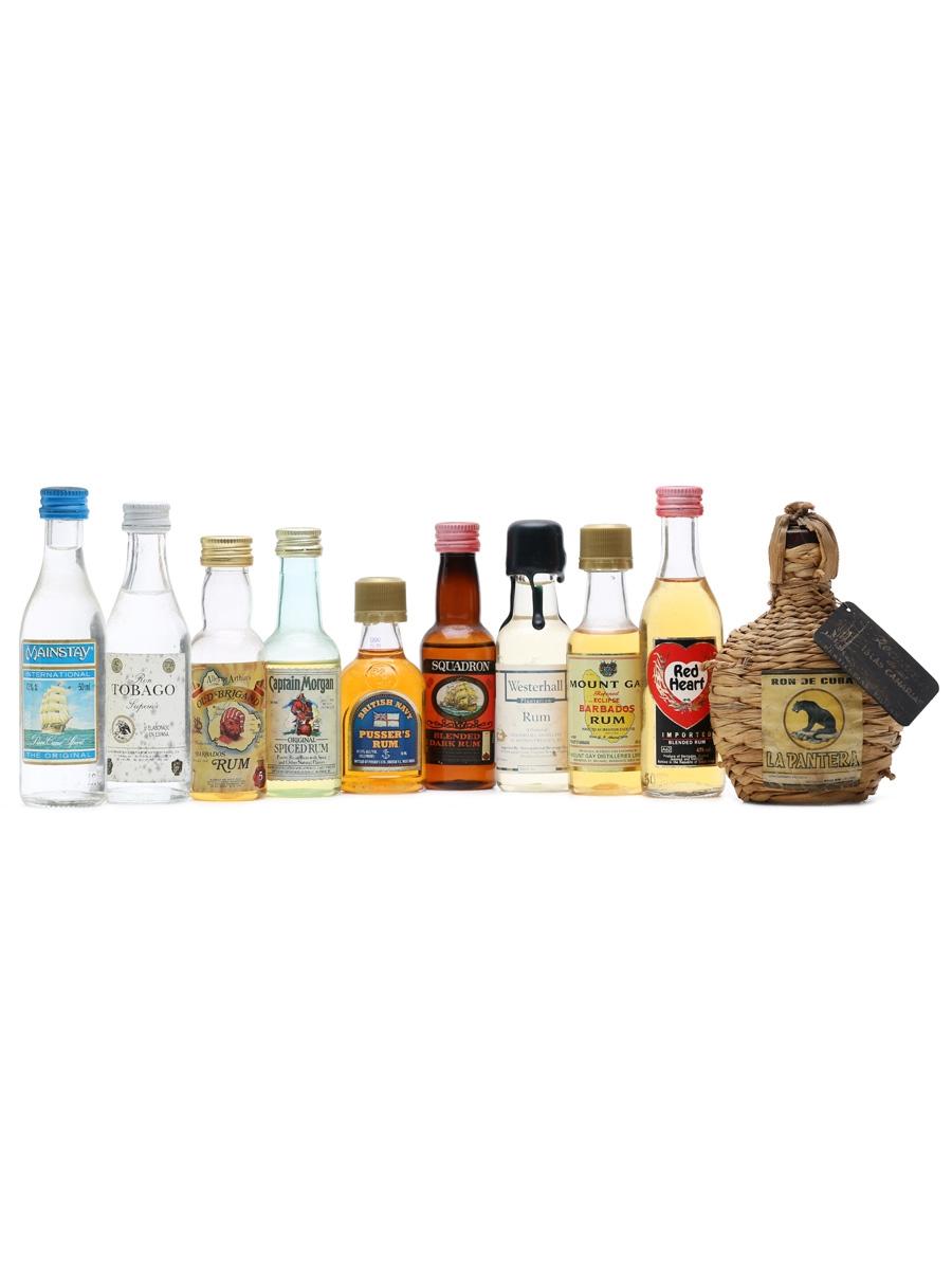 10 x Assorted Rum Miniatures