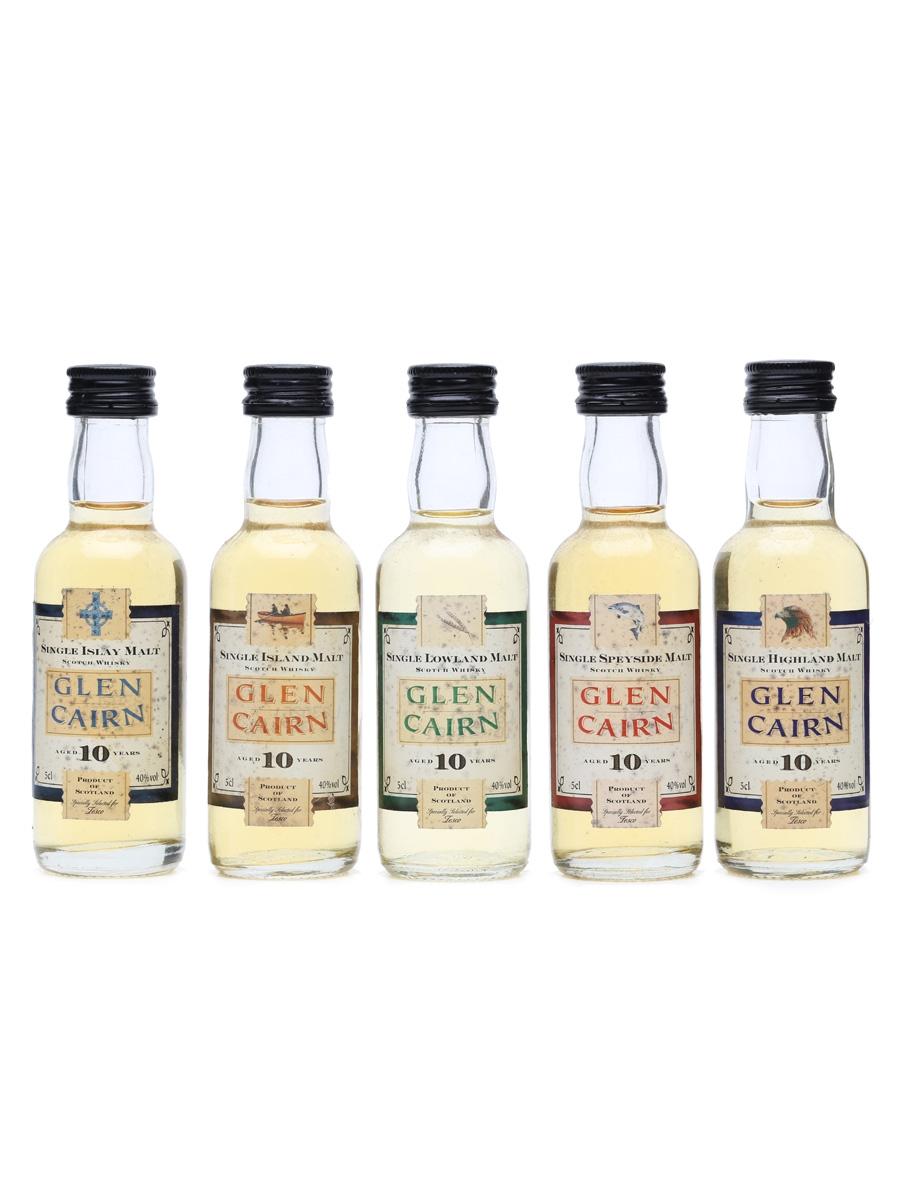 5 x Glen Cairn 10 Years Old Miniatures
