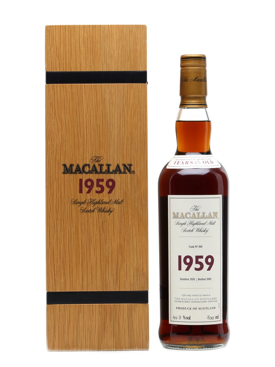 Macallan 1959 43 Years Old Fine & Rare 70cl / 46.7%