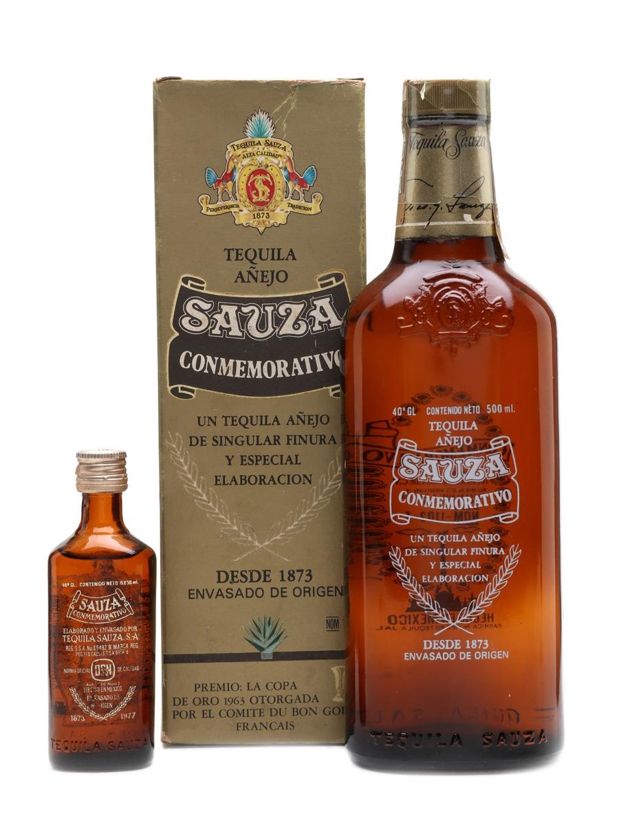 Sauza Conmemorativo 1873-1977 Bottled 1970s 50cl & 5cl / 40%