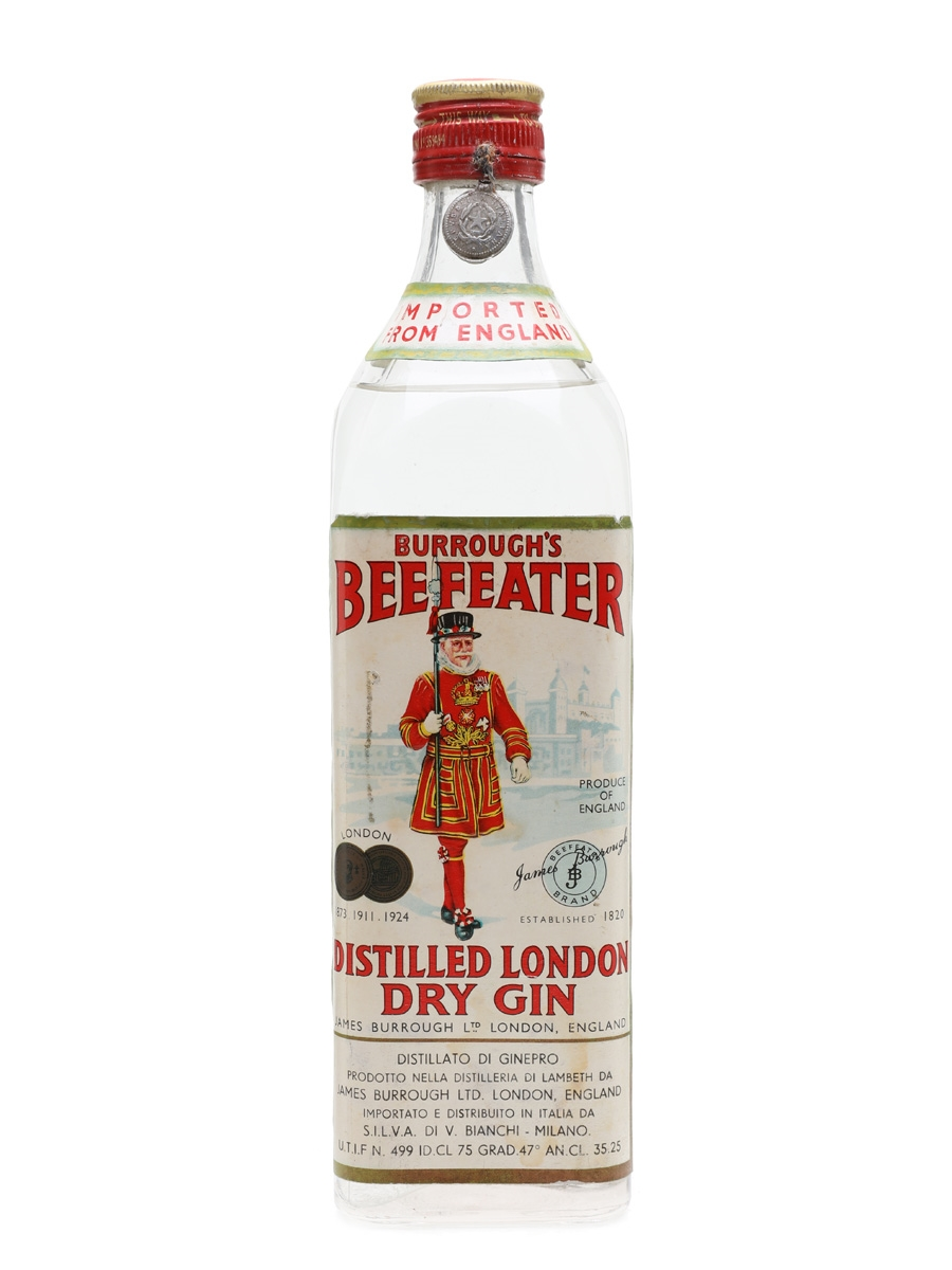 Burrough's Beefeater London Dry Gin Bottled 1950s - Silva 75cl / 47%
