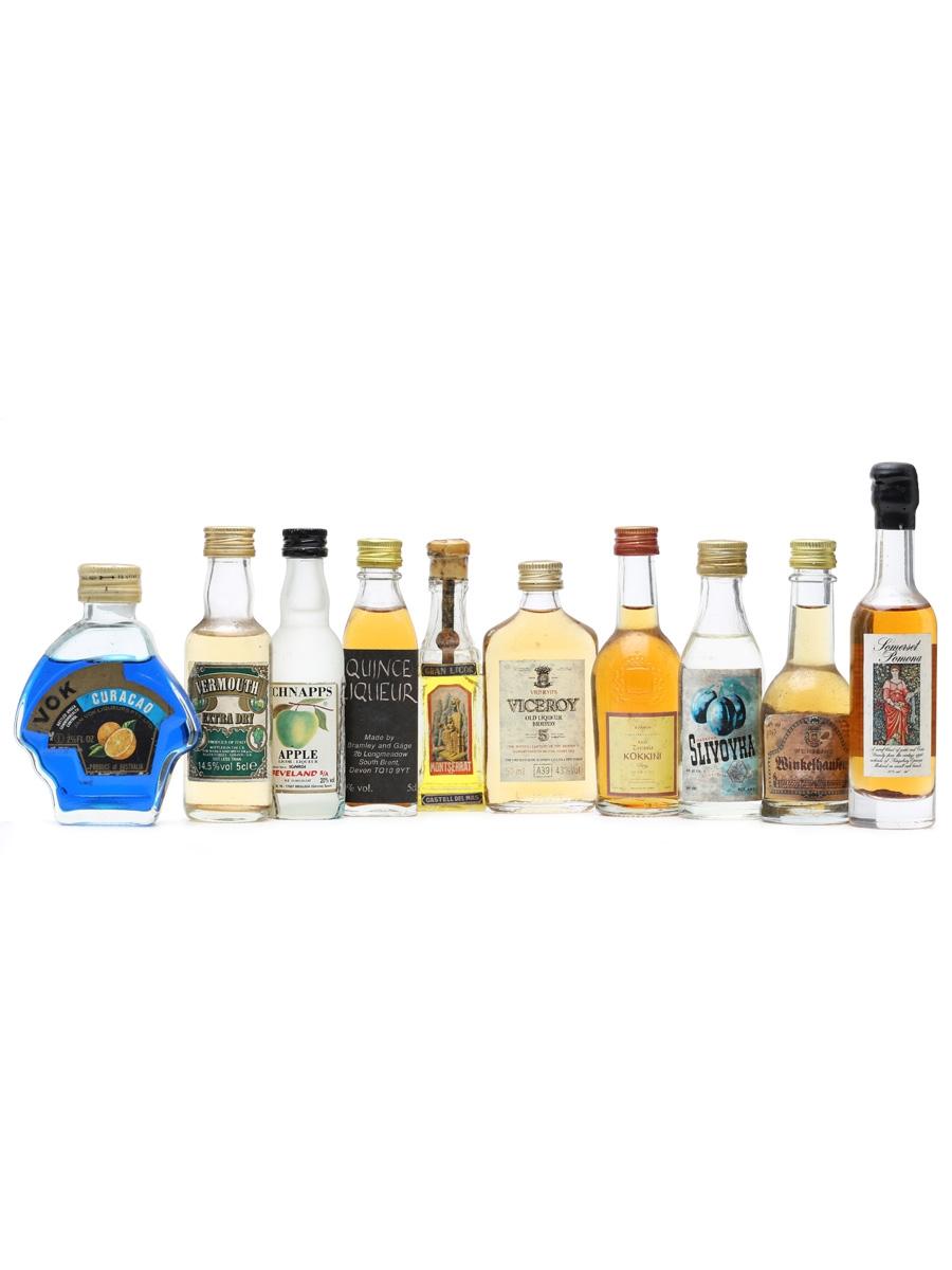 10 x Assorted Spirits Miniatures