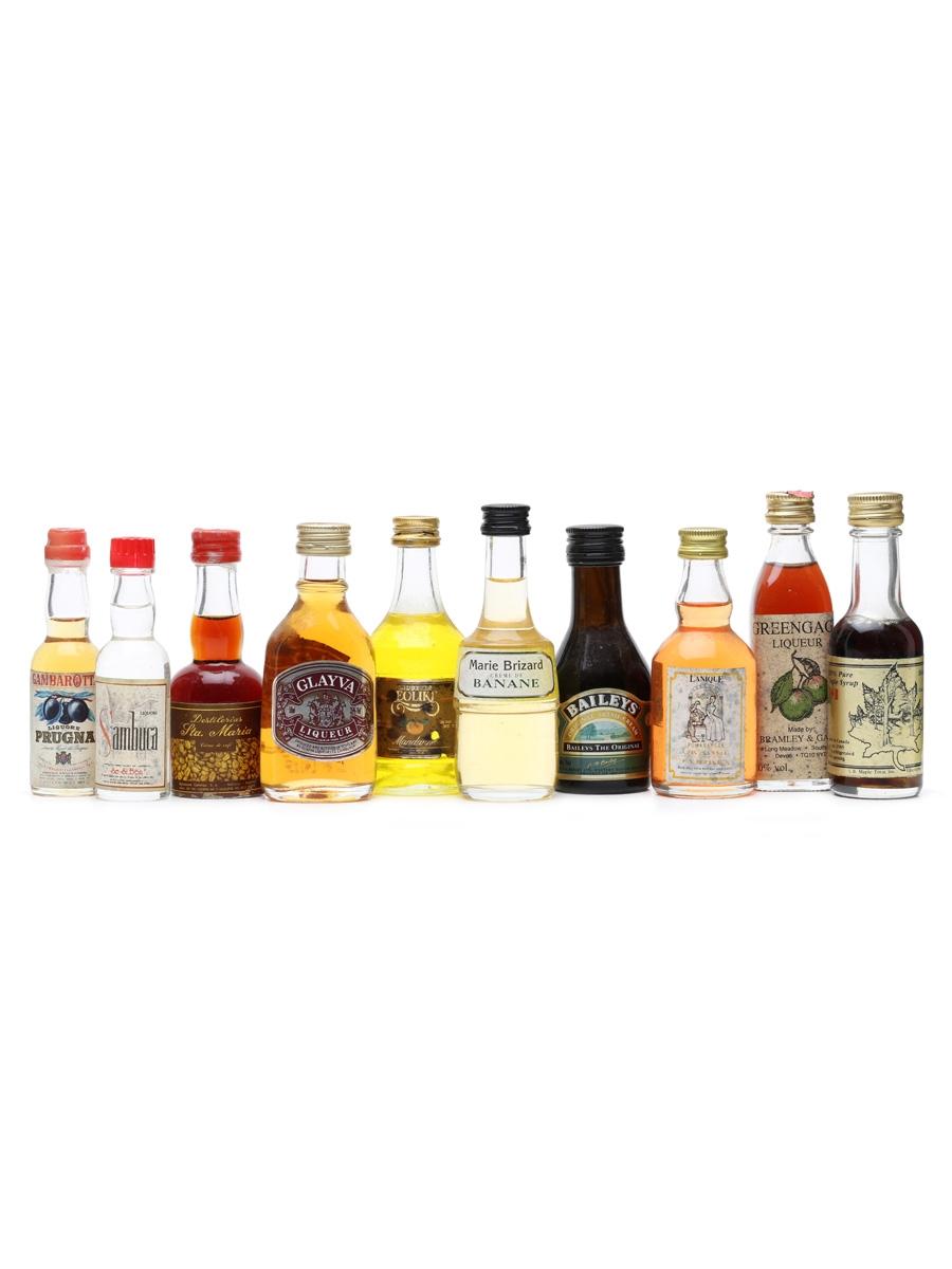 10 x Assorted Spirits & Liqueurs Miniatures