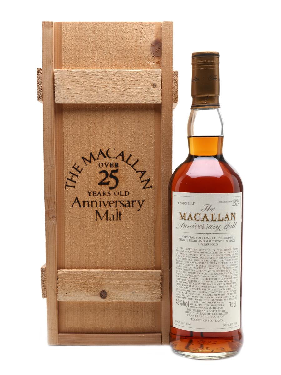 Macallan 1968 Anniversary Malt 25 Year Old 75cl / 43%