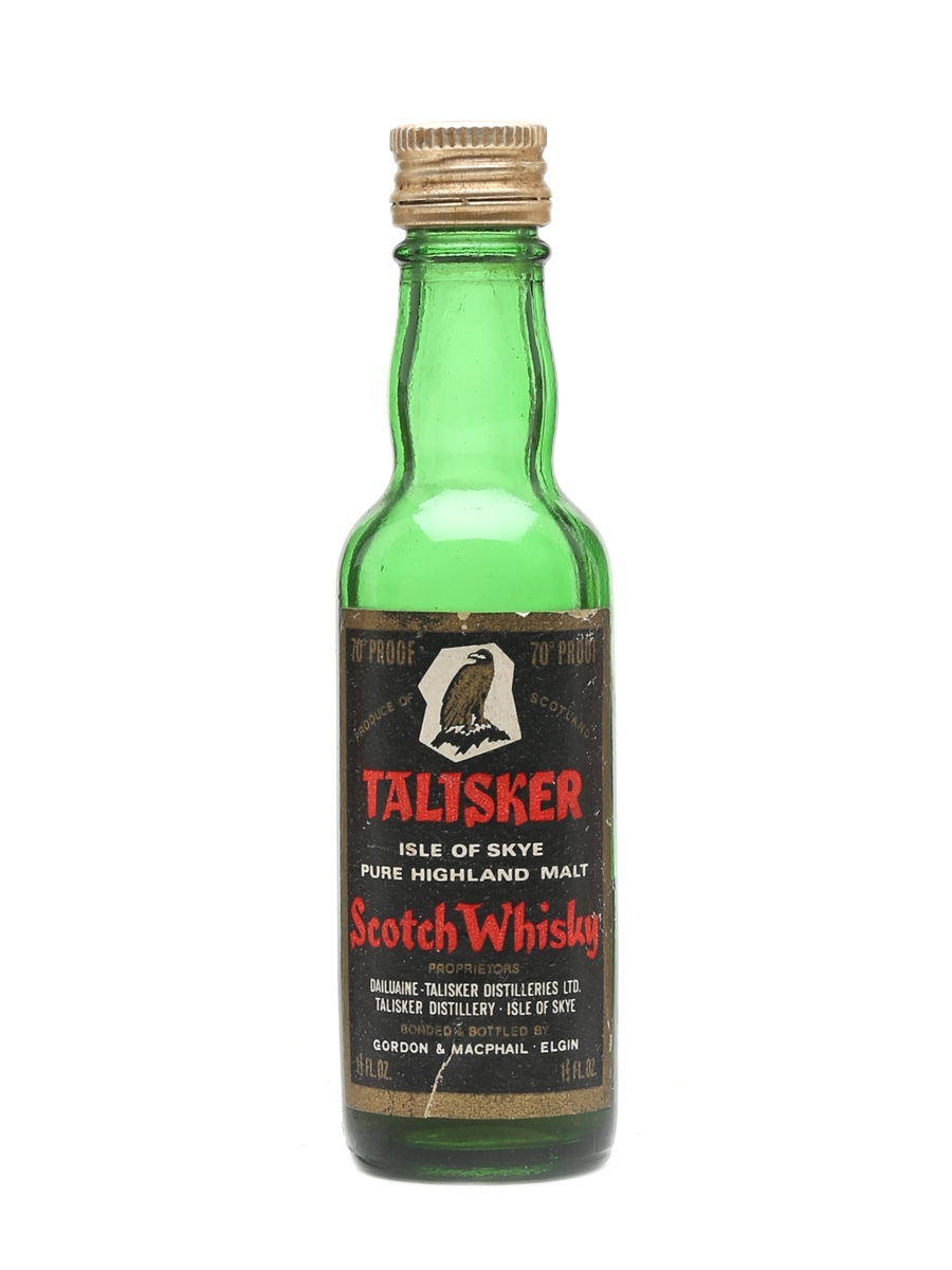 Talisker Eagle Label Bottled 1960s - Gordon & MacPhail 5cl / 40%