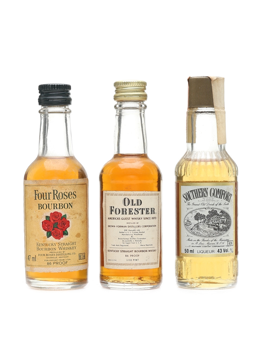 Four Roses Old Forester Southern Comfort Lot 33882 Whisky