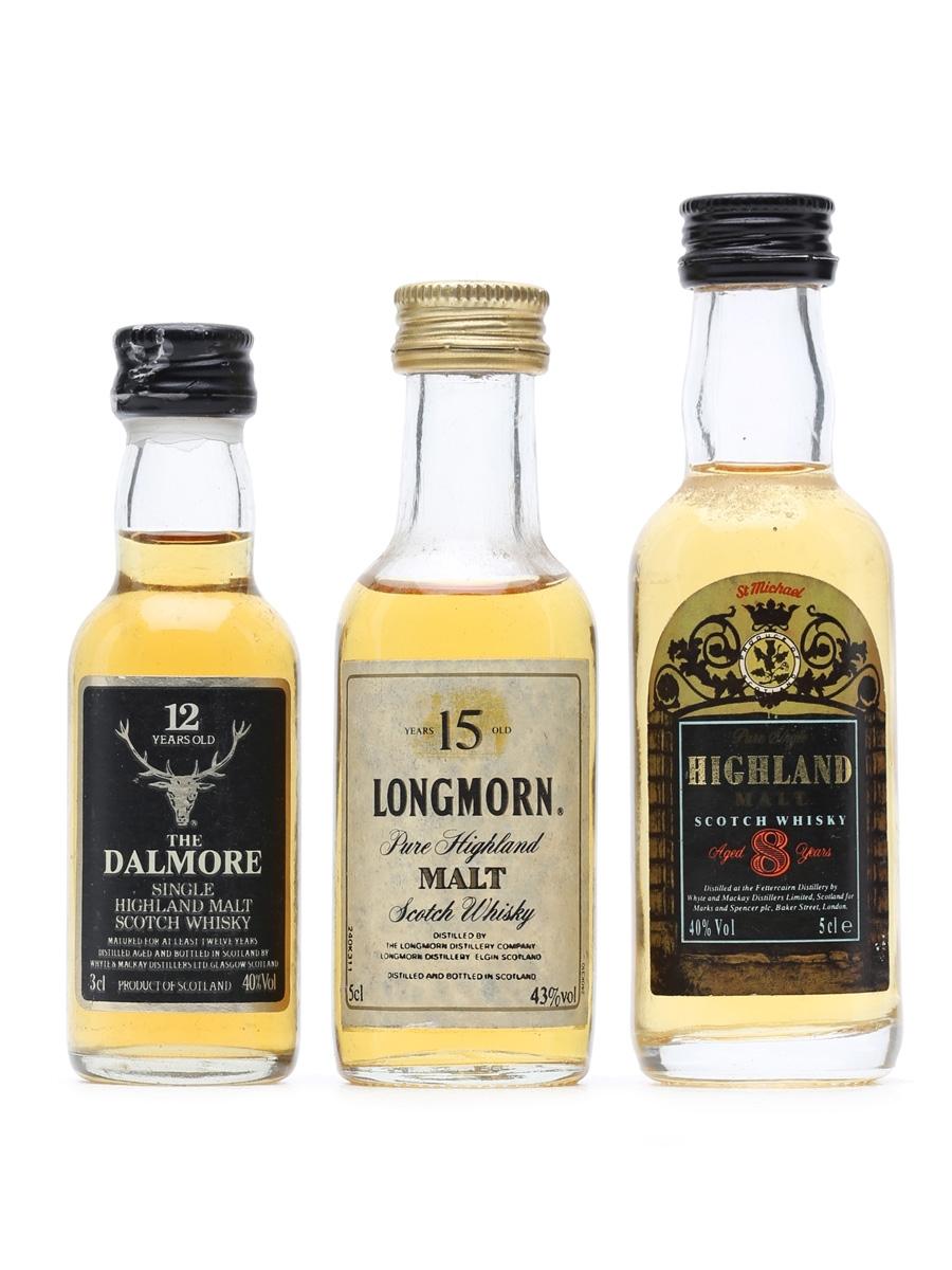 3 x Highland Single Malt Whisky Miniatures
