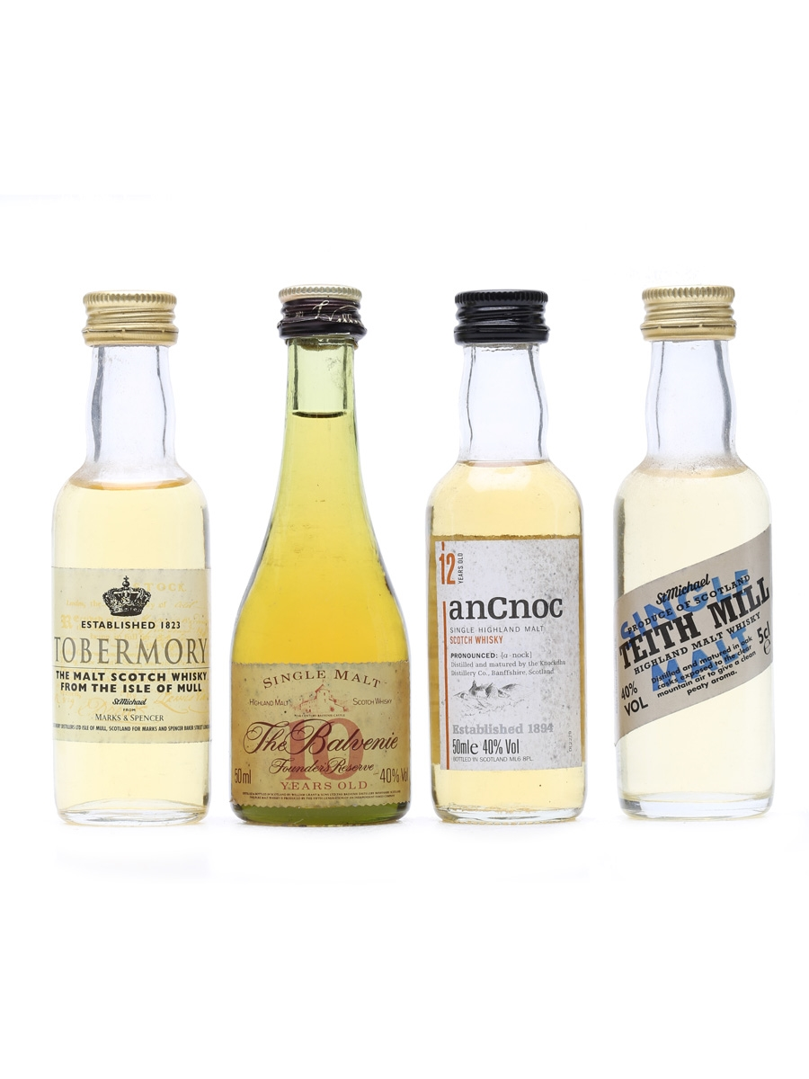 4 x Single Malt Scotch Whisky Miniatures