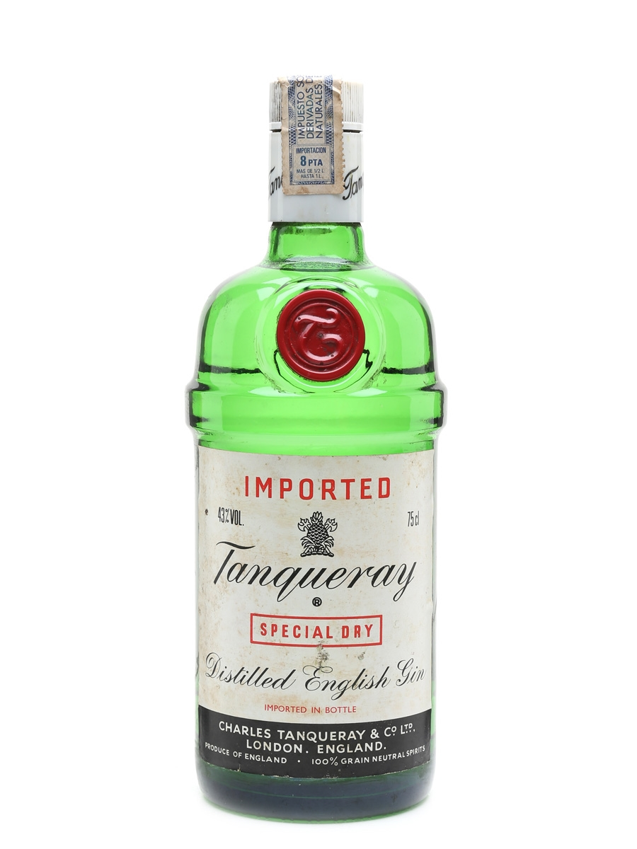 Tanqueray Special Dry Gin Bottled 1970s - Alfonso Ferrer 75cl / 43%