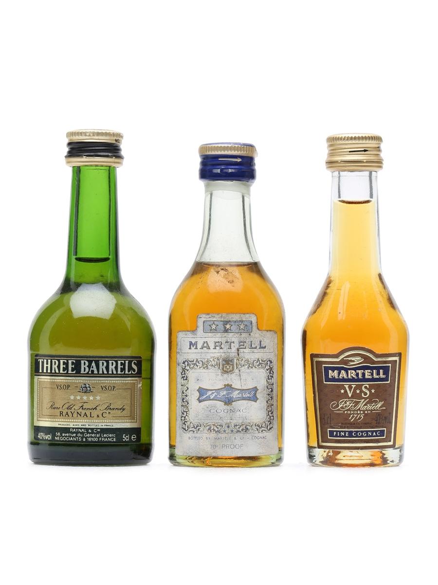 3 x Assorted Brandy & Cognac Miniatures