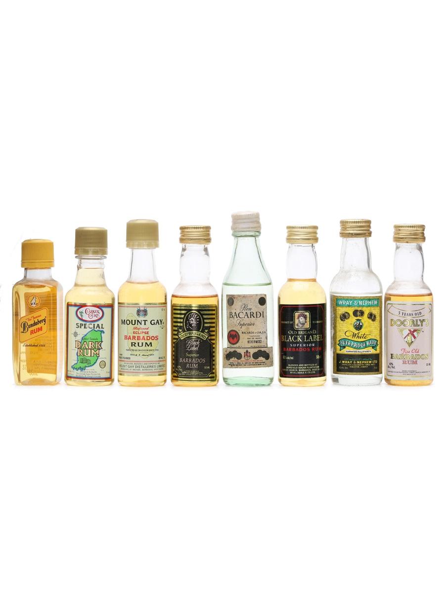 8 x Assorted Rum Miniatures