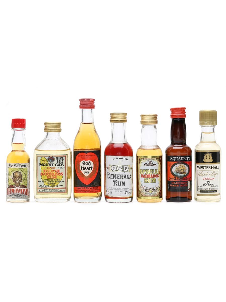 7 x Assorted Rum Miniatures