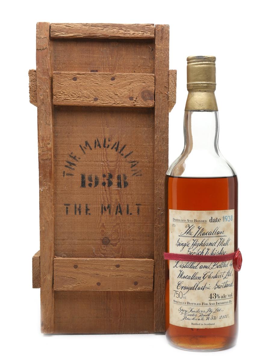 Macallan 1938 Handwritten Label Bottled 1980s - Bottle number 9 75cl / 43%