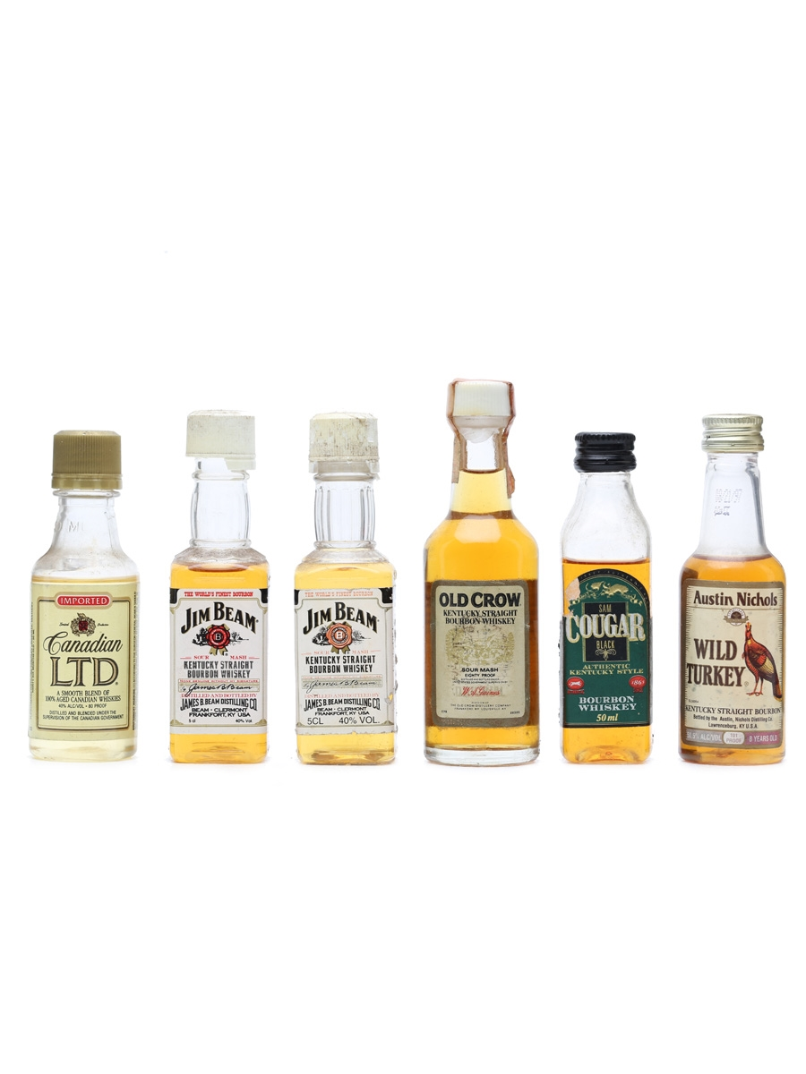 6 x Assorted Bourbon Miniatures