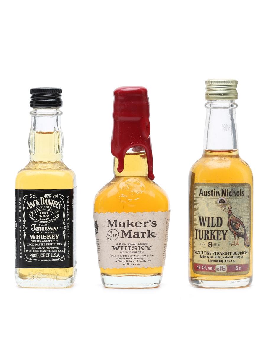 3 x Assorted Bourbon Miniatures
