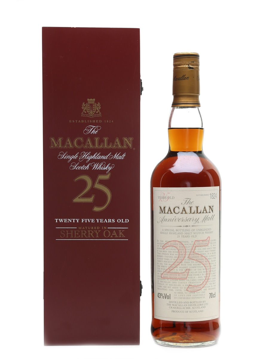 Macallan 25 Year Old Anniversary Malt 70cl / 43%