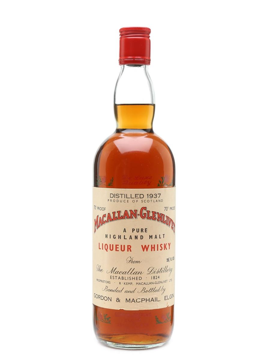 Macallan Glenlivet 1937 Gordon & MacPhail Bottled 1960s-1970s 75.7% / 40%
