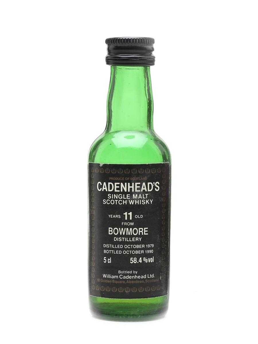 Bowmore 1979 11 Year Old - Cadenhead's 5cl / 58.4%