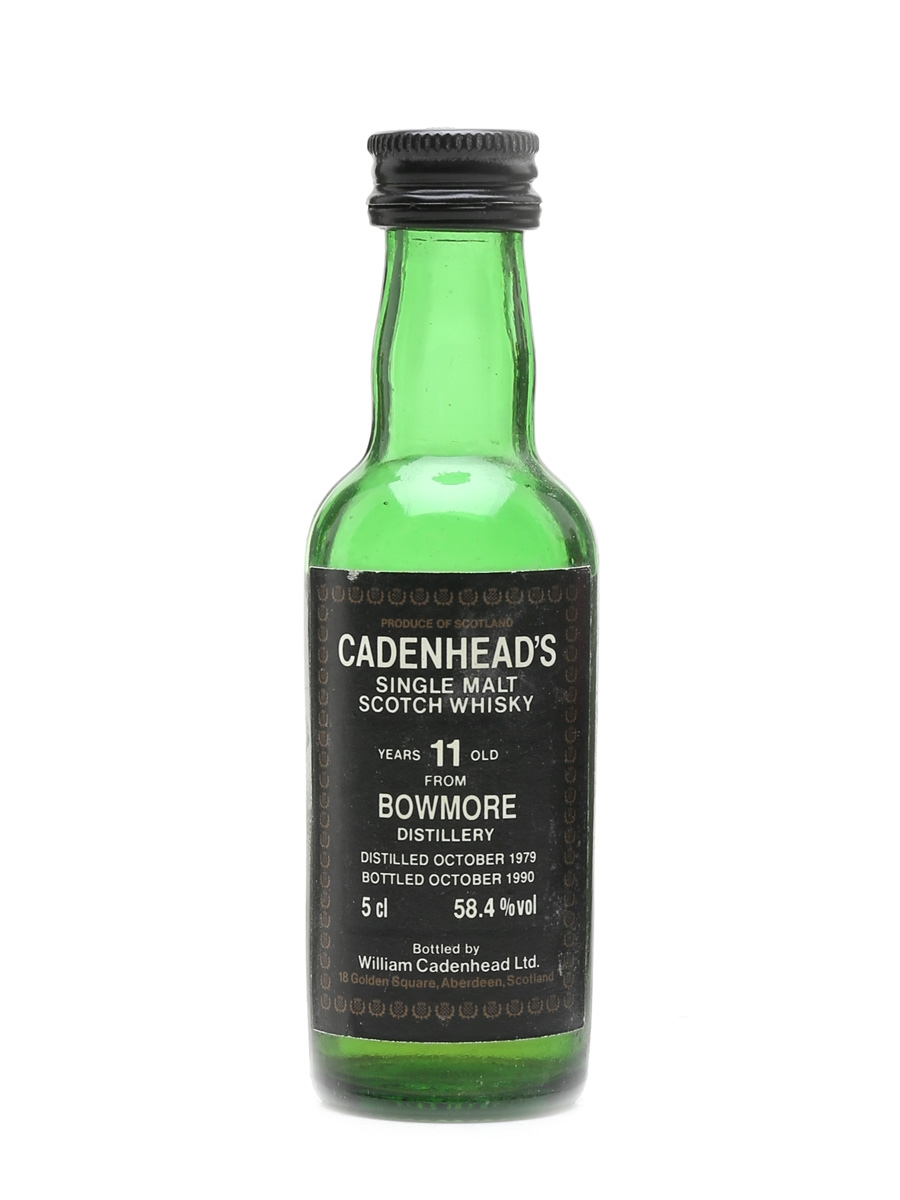 Bowmore 1979 11 Year Old - Cadenhead's 5cl / 58.4%