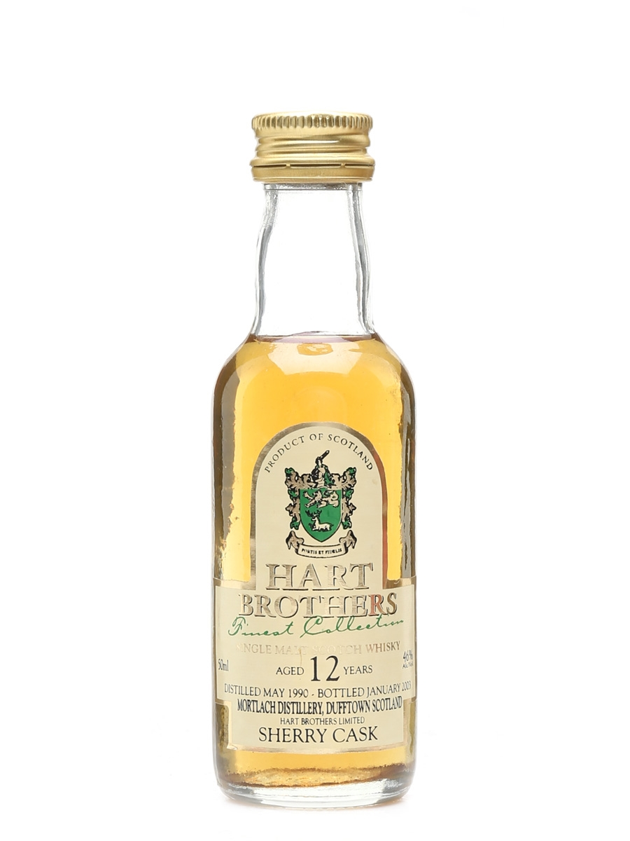 Mortlach 1990 12 Year Old Bottled 2003 - Hart Brothers 5cl / 46%