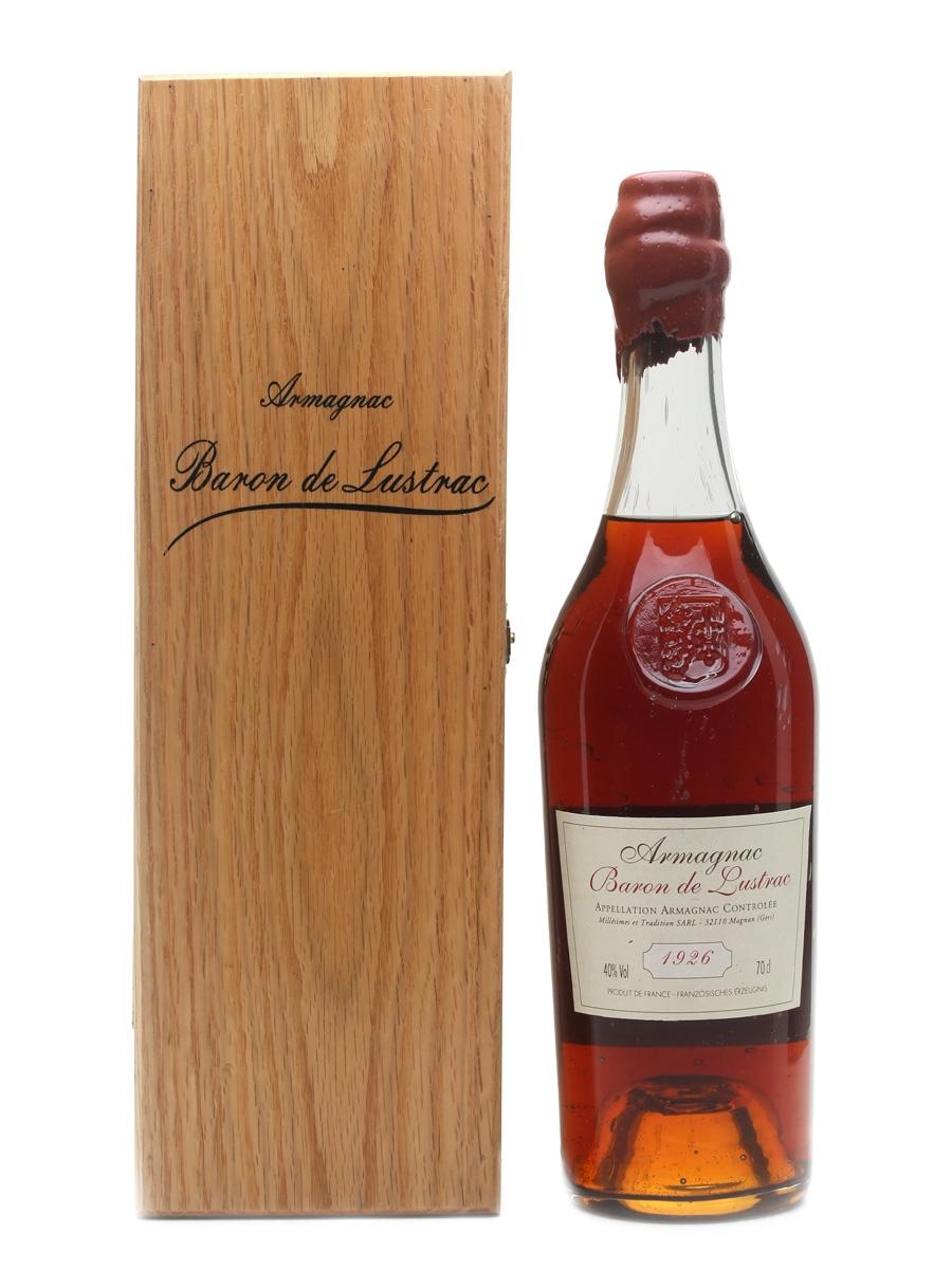 Baron De Lustrac 1926 Armagnac  70cl / 40%