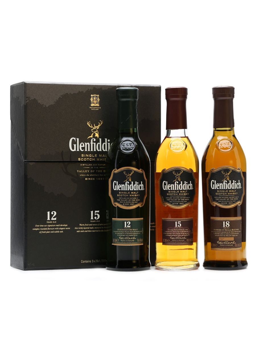 Glenfiddich Set 12-15-18 Years Old 3 x 20cl