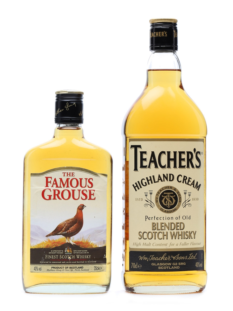 2 x Blended Scotch Whiskies Teacher's 70cl & Famous Grouse 35cl
