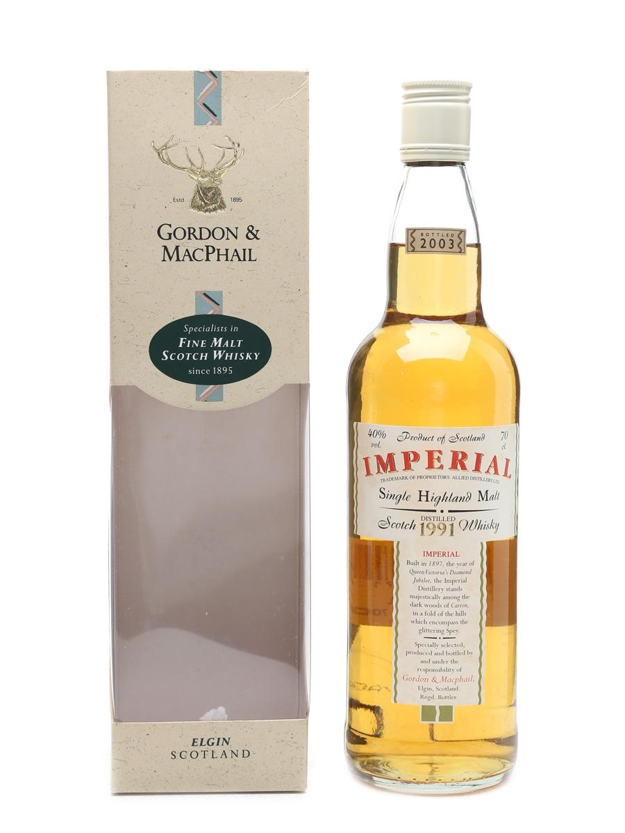 Imperial 1991 Bottled 2003 - Gordon & MacPhail 70cl / 40%