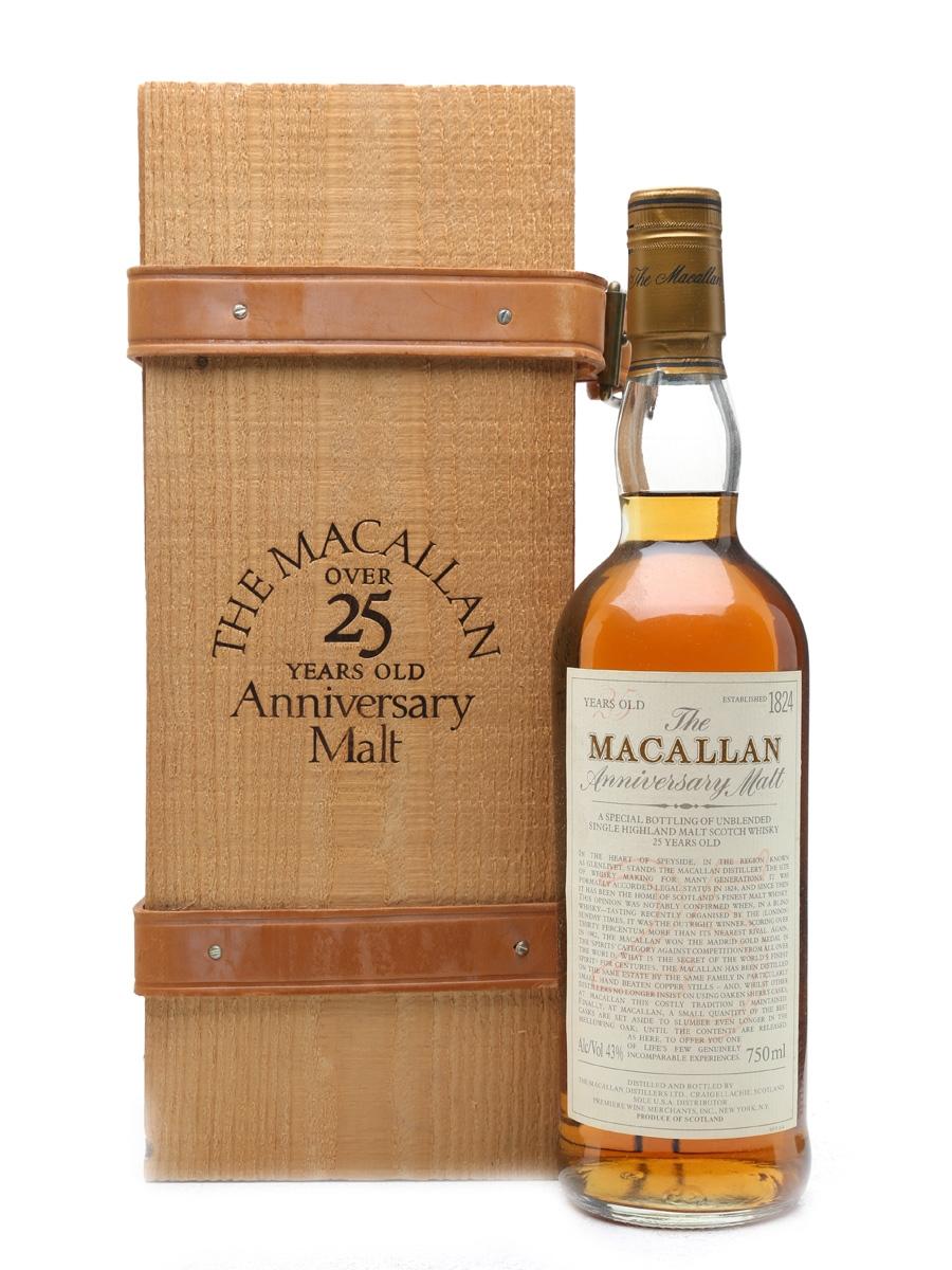 Macallan 25 Year Old Anniversary Malt 75cl / 43%