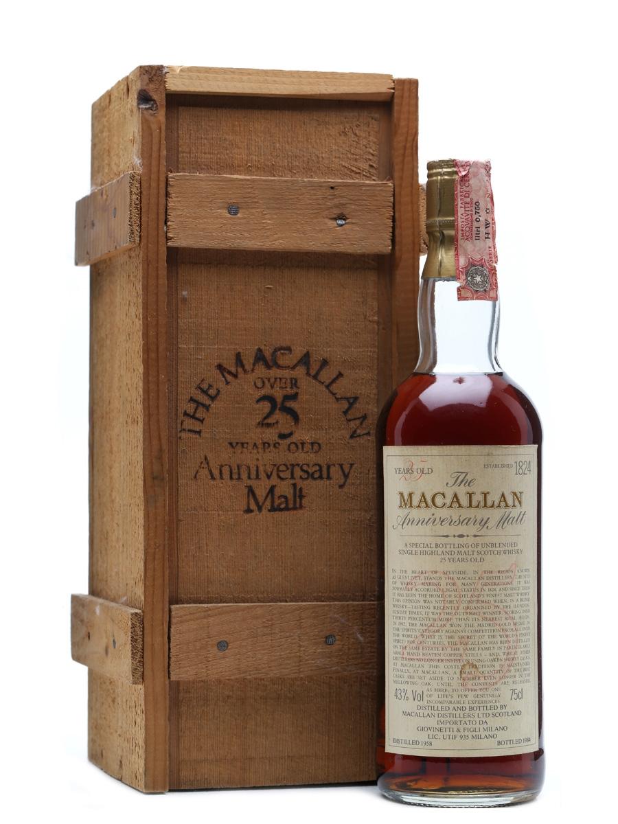 Macallan 1958 Anniversary Malt 25 Years Old 75cl / 43%