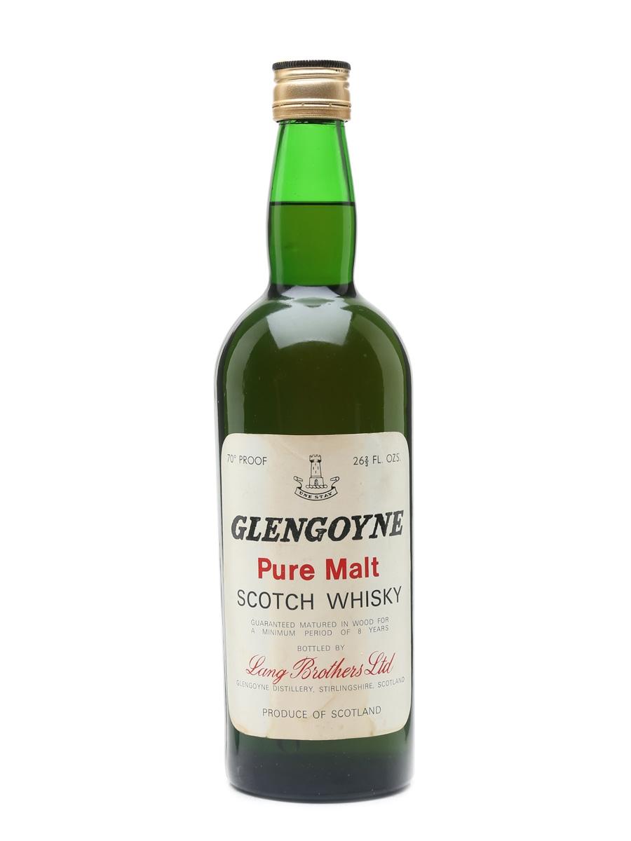 Glengoyne 8 Year Old Pure Malt Bottled 1960s - Lang Brothers 75.7cl / 40%
