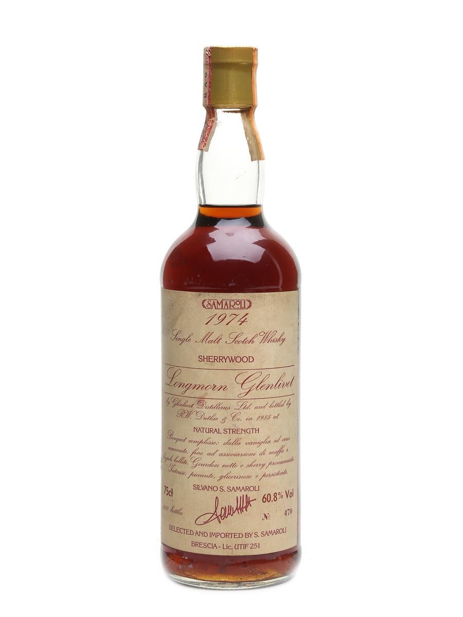 Longmorn Glenlivet 1974 Bottled 1985 - Samaroli 75cl / 60.8%