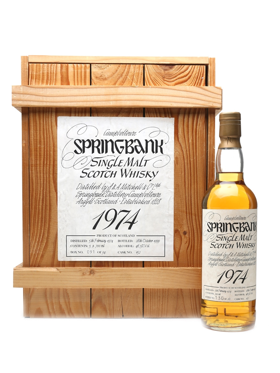 Springbank 1974 Bottled 1999 70cl / 46.3%