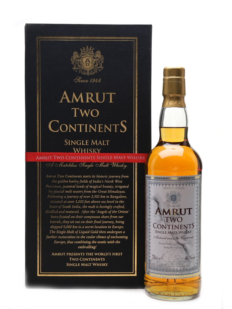 Amrut Two Continents  70cl / 46%