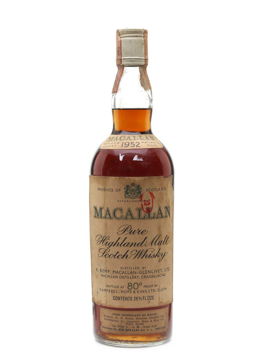 Macallan 1952 Campbell, Hope & King 75cl / 45.85%