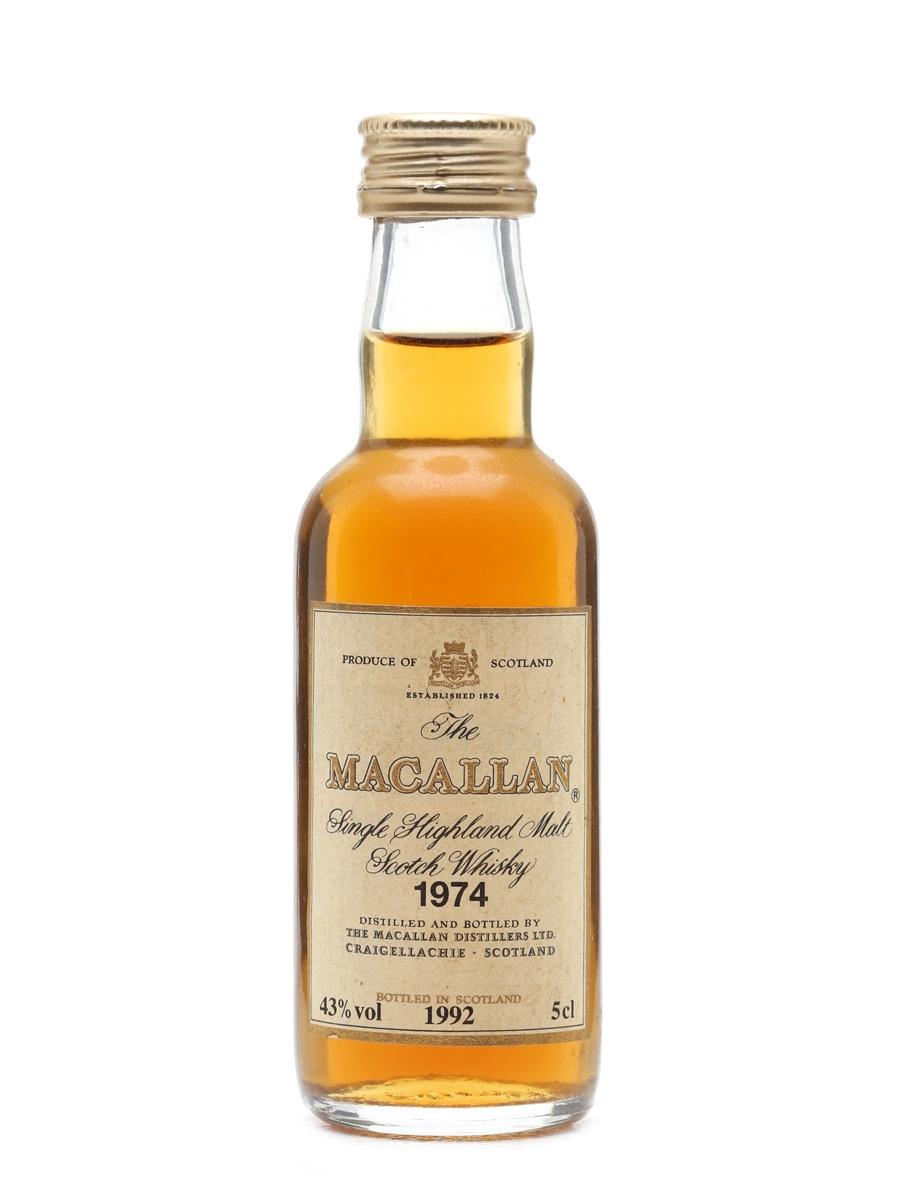 Macallan 1974 Bottled 1992 Miniature