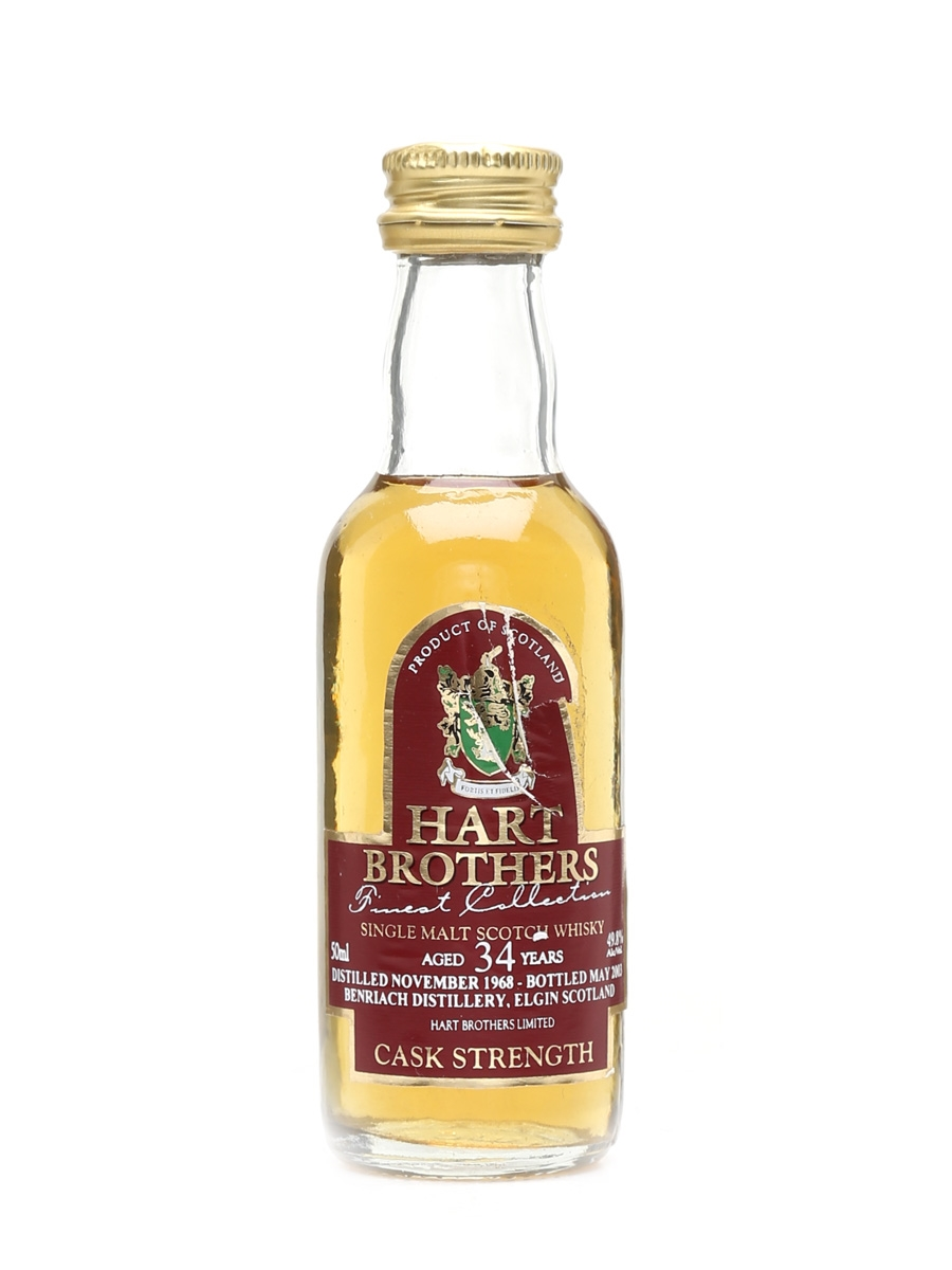 Benriach 1968 34 Year Old Bottled 2003 - Hart Brothers 5cl / 49.8%