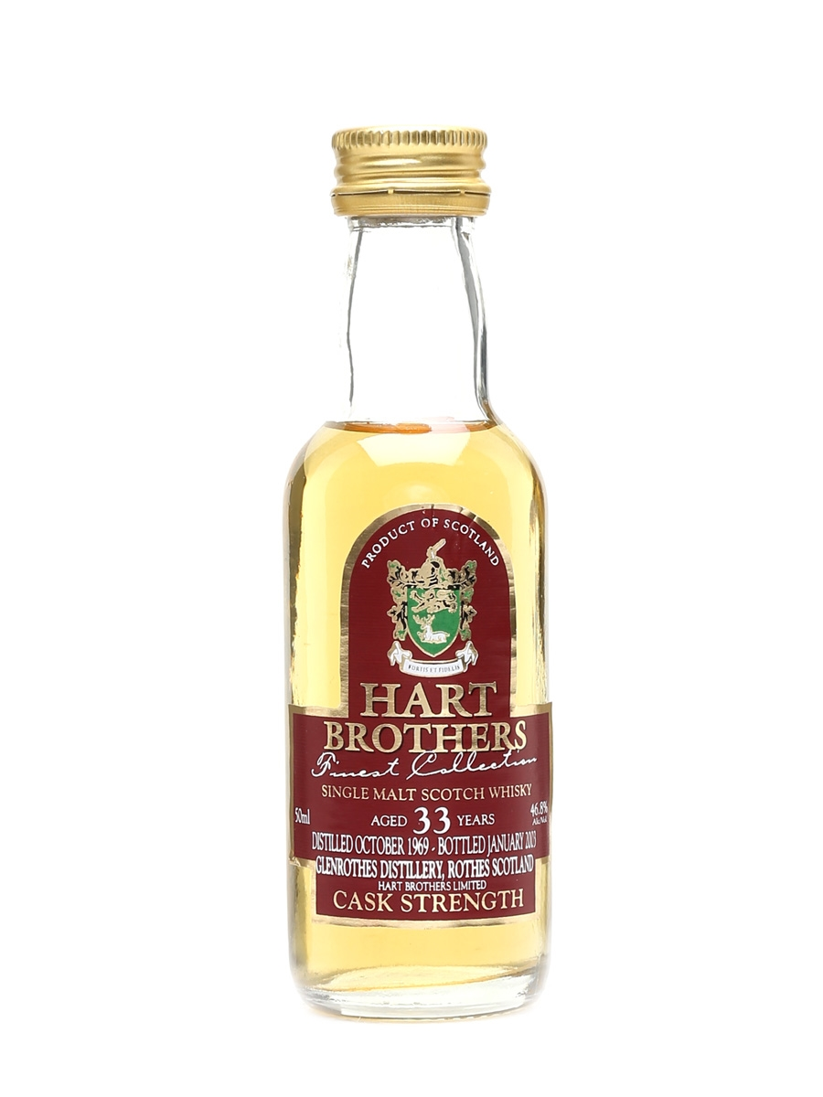 Glenrothes 1969 33 Year Old Bottled 2003 - Hart Brothers 5cl / 46.8%