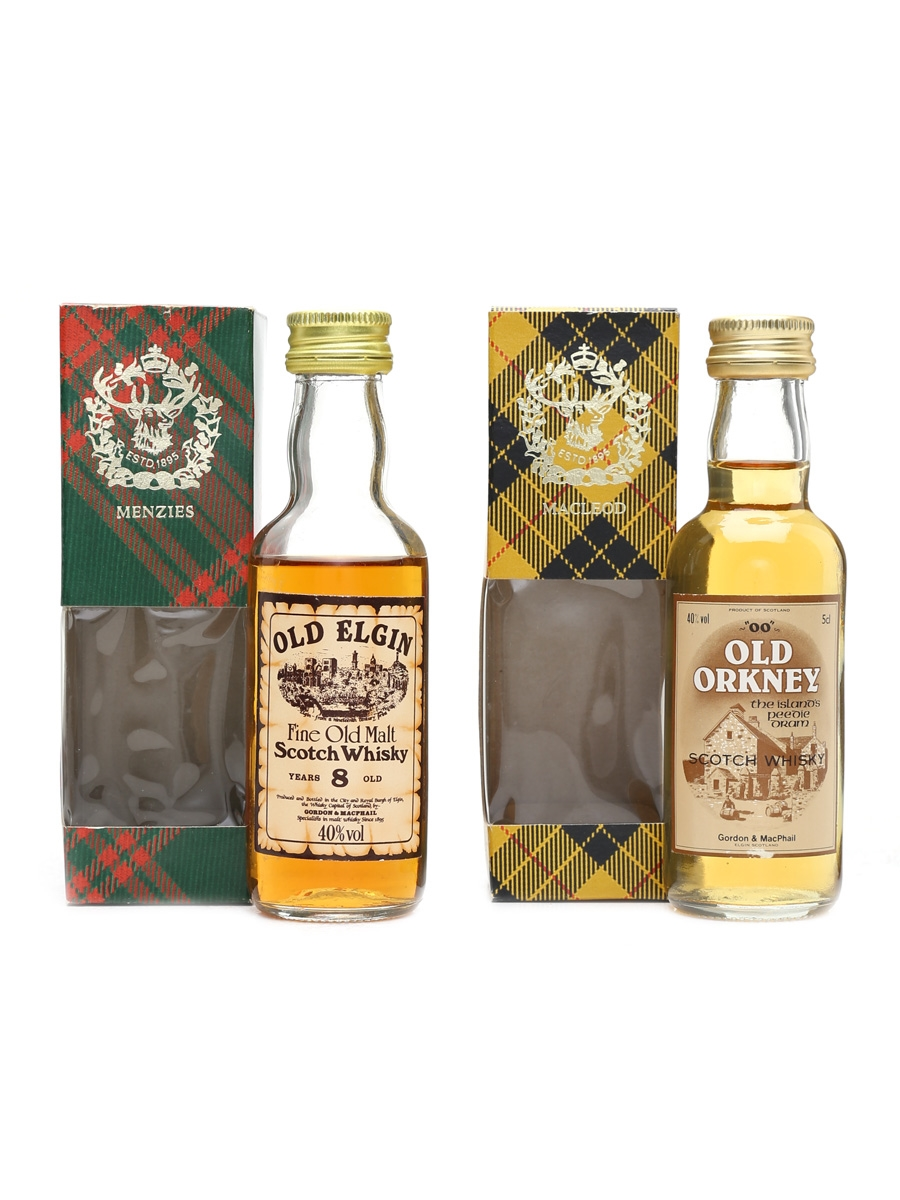 Old Elgin 8 Year Old & Old Orkney 'OO' Gordon & MacPhail 2 x 5cl / 40%