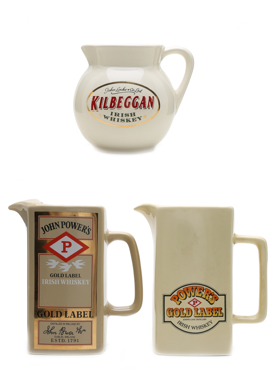John Power's & Kilbeggan Water Jugs Large