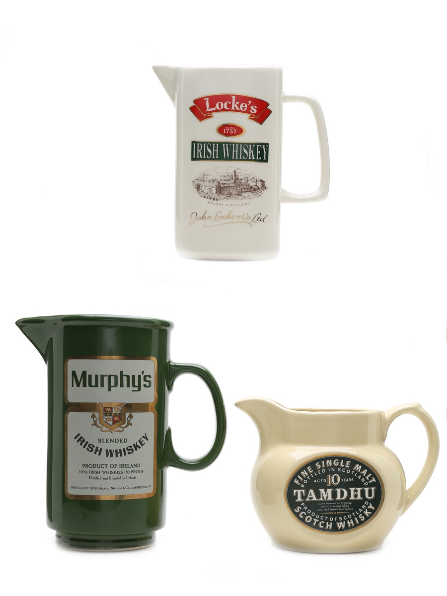 Locke's, Murphy's & Tamdhu Water Jugs Medium & Large