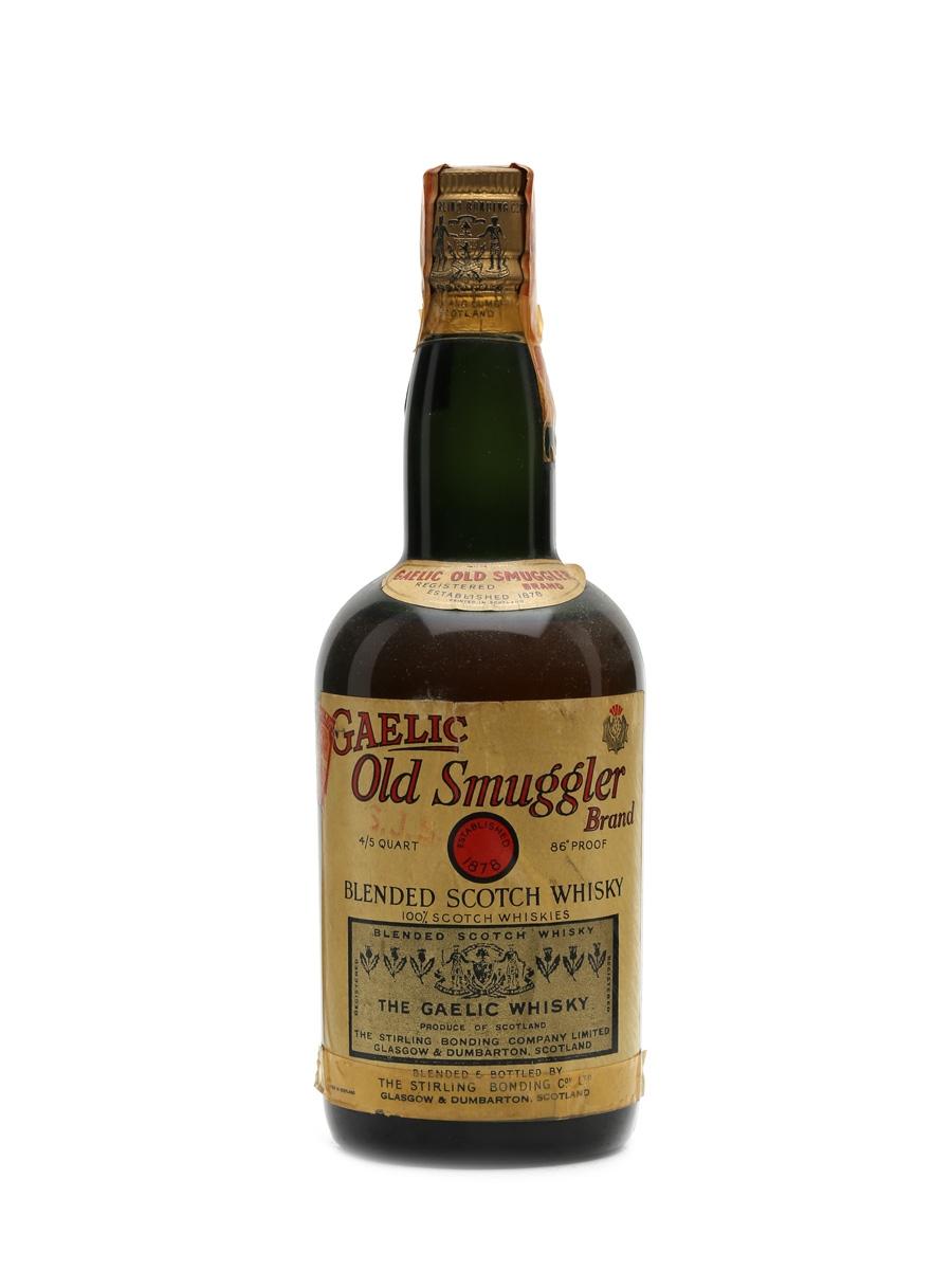 Gaelic Old Smuggler Bottled 1940s 75cl