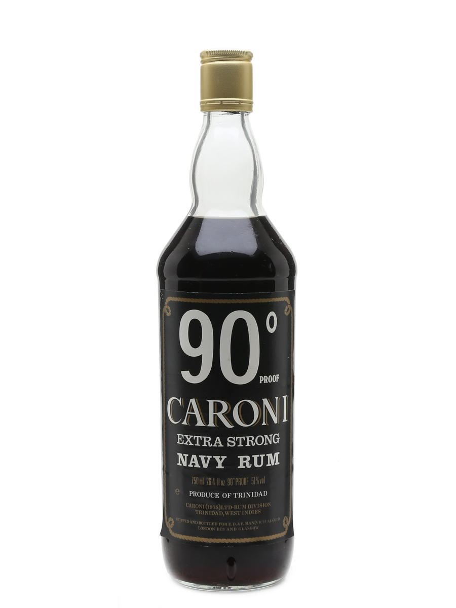Caroni 90 Proof Navy Rum Bottled 1970s 75cl / 51%