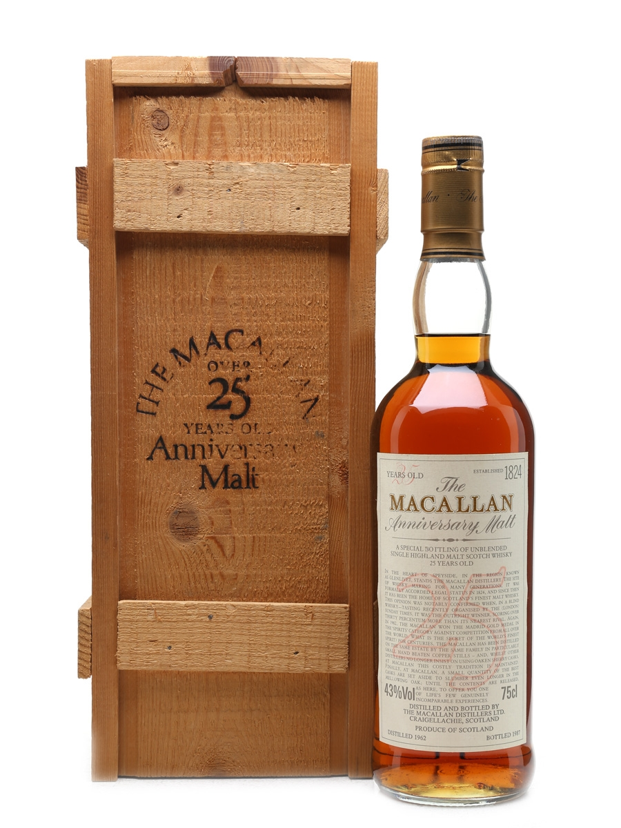 Macallan 1962 Anniversary Malt 25 Year Old 75cl / 43%