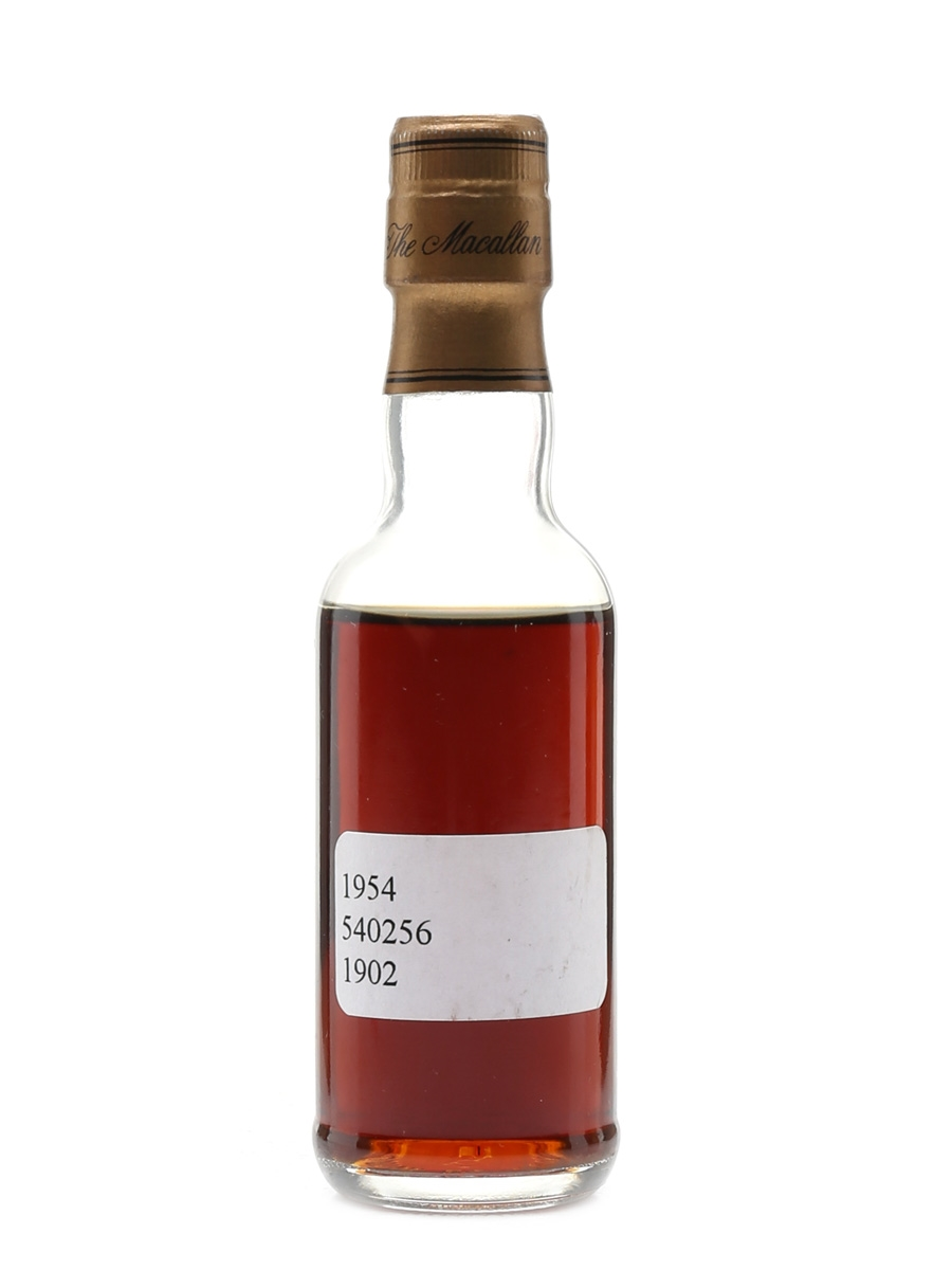 Macallan 1954 Fine & Rare Cask No. 1902 47 Year Old - Trade Sample 5cl / 50.2%