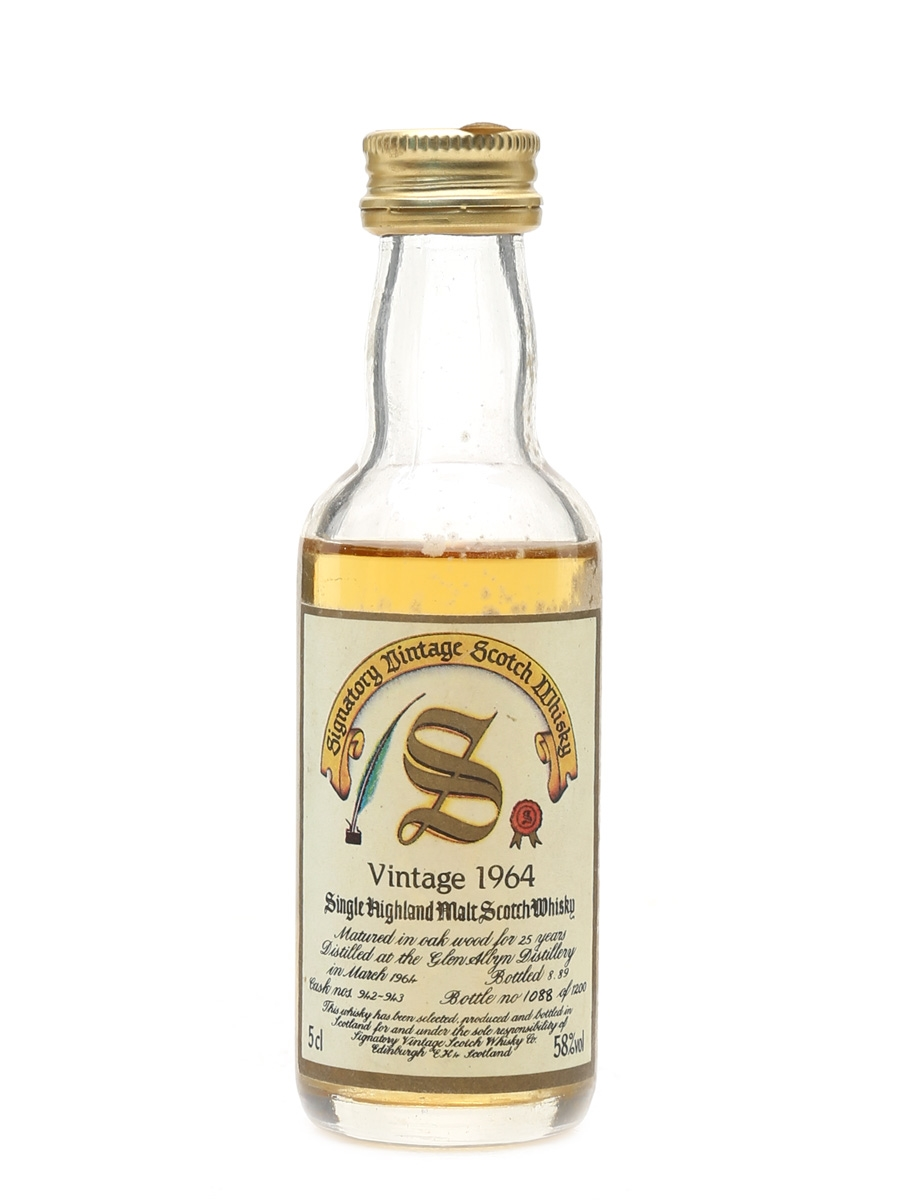 Glen Albyn 1964 25 Year Old - Signatory Vintage 5cl / 58%