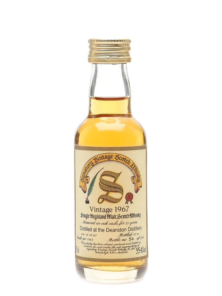 Deanston 1967 23 Year Old - Signatory Vintage 5cl / 55.4%