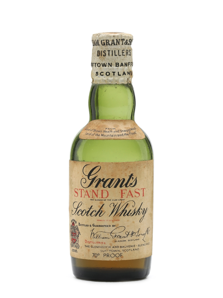 Grant's Stand Fast Bottled 1930s Miniature